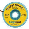"DESOLDERING BRAID, QUICK BRAID, .050"" X 10', ANTISTATIC, 25/PACK"