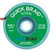 "DESOLDERING BRAID, QUICK BRAID, .075"" X 5', ANTISTATIC, 25/PACK"